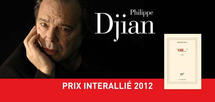O escritor Philippe Djian, laureado com o prêmio Interallié neste 14 de novembro de 2012.