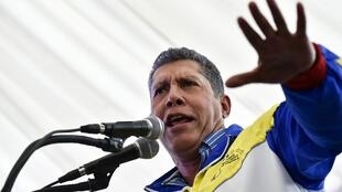 Henri Falcon, le 30 avril 2018 à Caracas.
