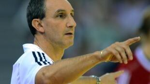 Alain Portes, sélectionneur de l'équipe d'Algérie de handball.