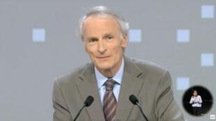 Jean-Dominique Senard, président de Renault, s'exprime lors de la réunion des actionnaires du constructeur automobile français à Paris, le 12 juin 2019 (capture d'écran).