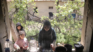 The Alhayani family from Iraq are among hundreds of people from the Middle East, Africa and Asia sheltering in derelict houses in Serbian villages