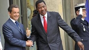 Benin President Boni Yayi in Paris in July