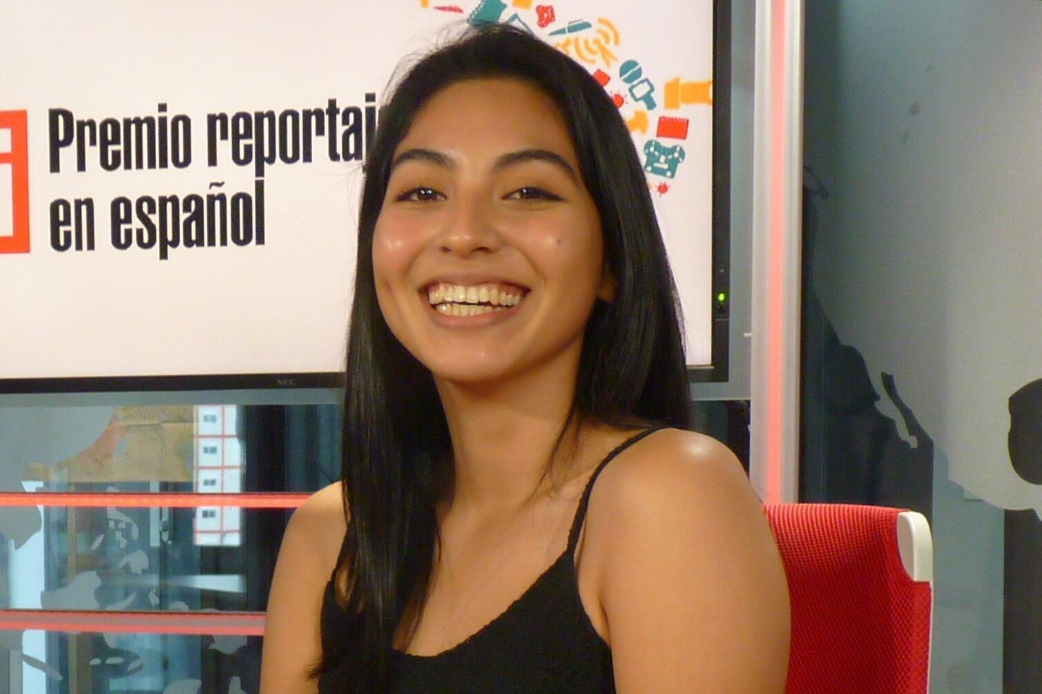 Valeria Reyes en los estudios de RFI