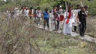 Migrantes centroamericanos atraviesan el estado de Chiapas, en México.