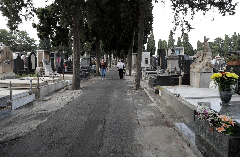 Nghĩa trang ở Catania, Ý. Ảnh chụp ngày 15/05/2020