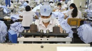 Une usine américaine à Hanoi, Vietnam.