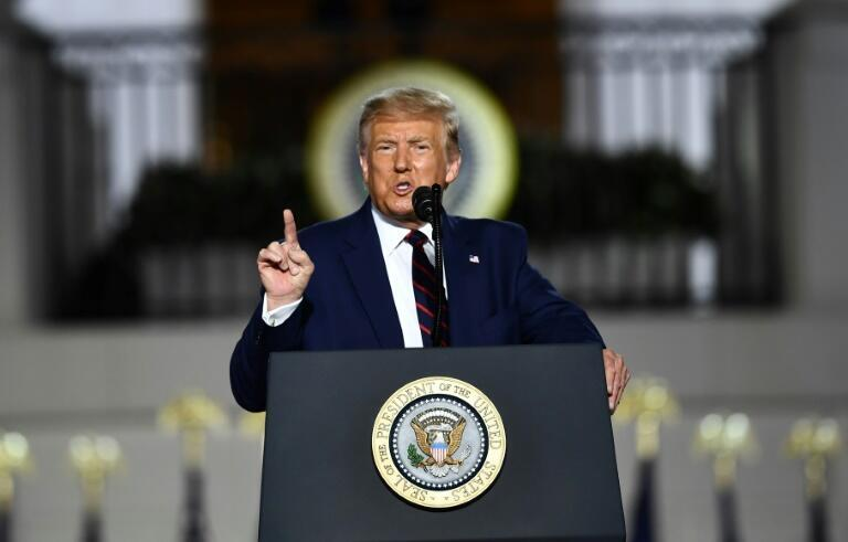 美国总统特朗普在共和党全国大会闭幕演说