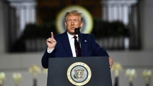 美國總統特朗普在共和黨全國大會閉幕演說