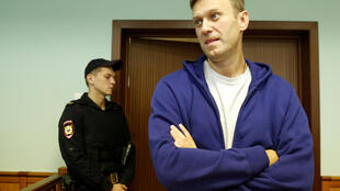 Алексей Навальный в Мосгорсуде 6 октября 2017