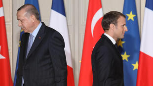 Le président français Emmanuel Macron et son homologue turc Recep Tayyip Erdogan.