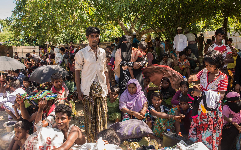 Refugiados rohingya em Bangladesh (10/10/17).