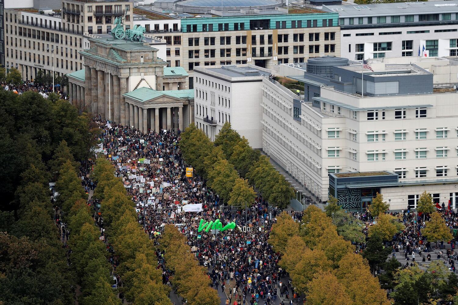 People take part in the Global Climate Strike of the movement Fridays for Future, in Berlin, Germany, September 20, 2019.