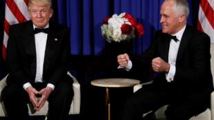 Le président américain Donald Trump en compagnie du Premier ministre australien Malcolm Turnbull le 4 mai dernier à New York.