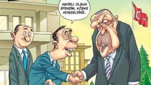 La couverture de «Penguen» suggérant que le président Erdogan est homosexuel.
