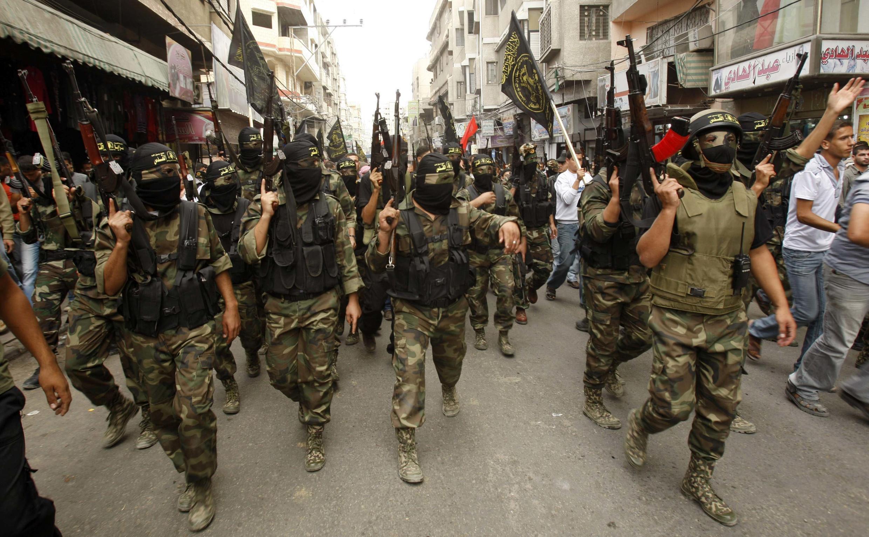 Militantes do Jihad islâmico na Faixa de Gaza, em março deste ano.