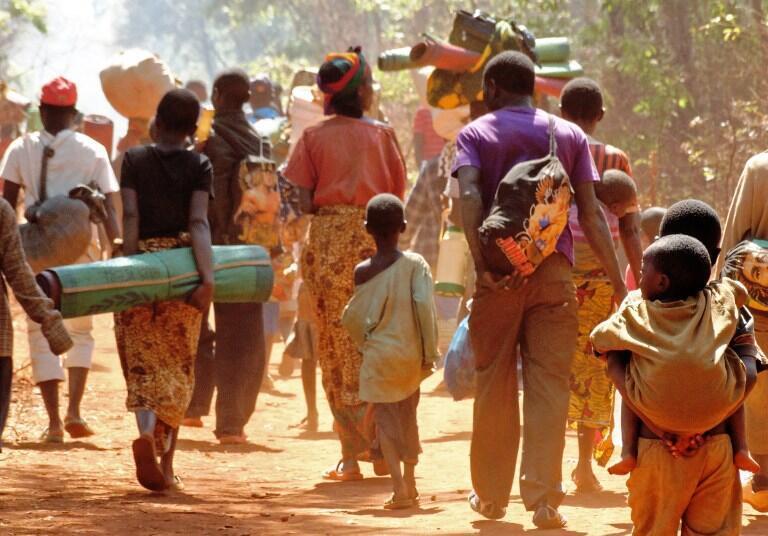 Burundian refugees walking to Nduta refugee camp in the Kigoma region of northwest Tanzania, October 2015.