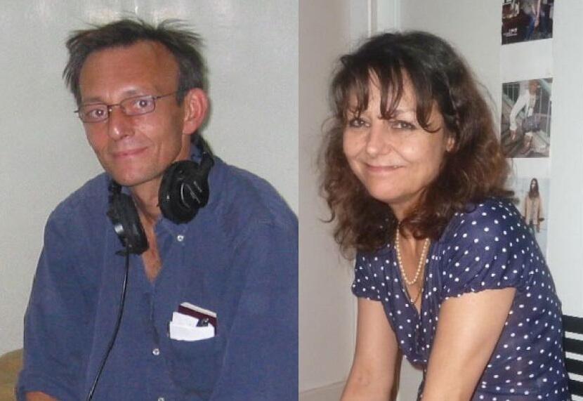 Ma'aikatan RFI, Claude Verlon (Hagu) da Ghislaine Dupont (Dama) wadanda aka yi wa kisan gilla a Mali a 2013.