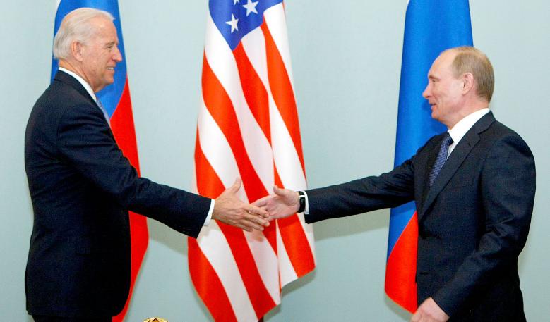 美国总统拜登与俄罗斯总统普京资料图片