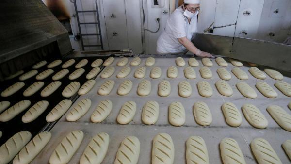 Dans une boulangerie à Donetsk en Ukraine.