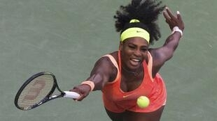 Serena Williams plays against compatriot Madison Keys at the US Open in New York