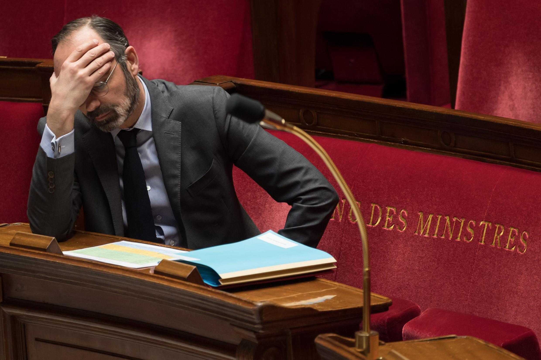 Le Premier ministre Édouard Philippe lors d'une session de questions aux gouvernements, le 24 mars 2020.