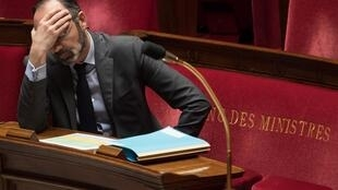 Prime Minister Édouard Philippe during Questions Time in parliament on March 24, 2020.