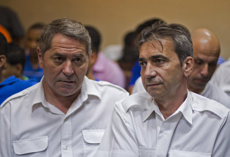 Os franceses Pascal Fauret (à esq.) e Bruno Odos (dir.), foram condenados na República Dominicana a 20 anos por tráfico de drogas