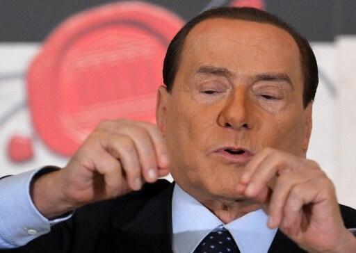 Silvio Berlusconi durante una conferencia de prensa en Roma, el 12 de diciembre de 2012.