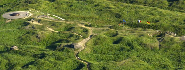 El campo donde se llevó a cabo la batalla de Verdún.