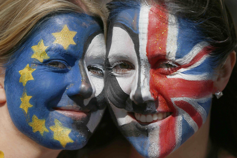 Des participantes à la «Marche pour l'Europe», dans le centre de Londres, ce samedi 2 juillet 2016.