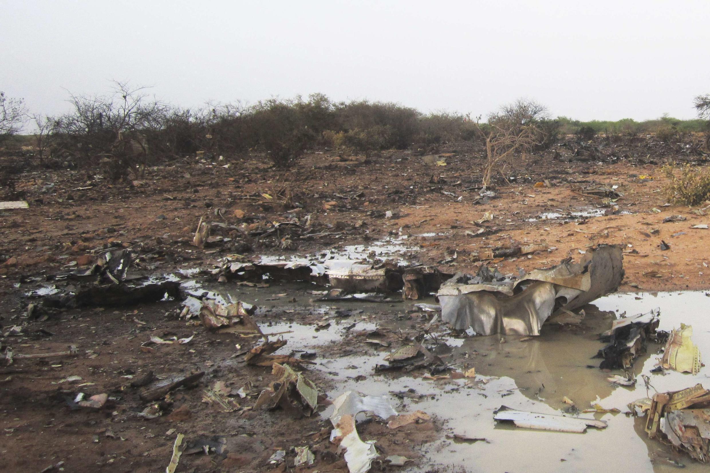 Le site du crash du vol AH5017 d'Air Algérie, près de Gossi, le 24 juillet 2014.