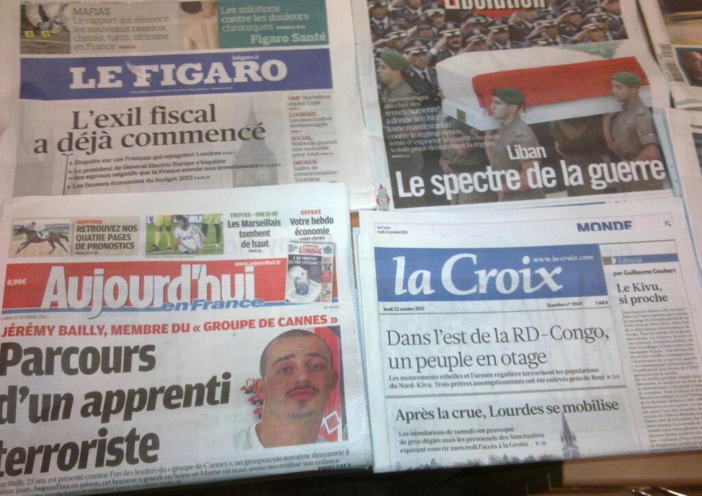 Diários franceses   22/10/2012