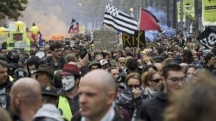 Manifestation des «Gilets jaunes» à Nantes.