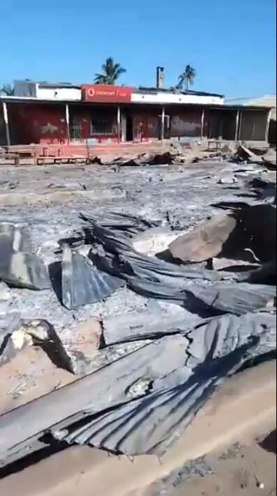 Cenas de destruição em Cabo Delgado, no norte de Moçambique.