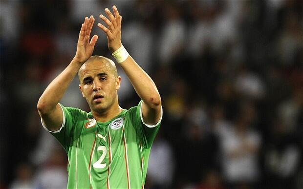 Mshambulizi wa Algeria Madjid Bougherra