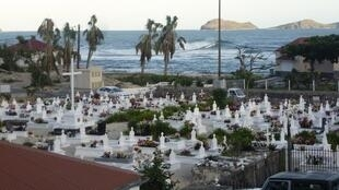 The Lorient cemetery on the French Caribbean island of Saint-Barthelemy, where French rock singer Johnny Hallyday will be buried on 11 December, 2017.