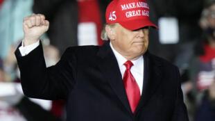 Le président américain Donald Trump lors de son meeting électoral à Rome en Georgie, le 1er novembre 2020.