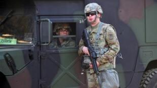 Soldados norte-americanos em exercício militar em Goyang, na Coreia do Sul. 15 de Março de 2017.