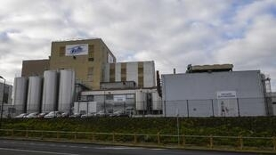 The Celia dairy company's infant milk factory that belongs to the LNS Lactalis group in Craon, western France