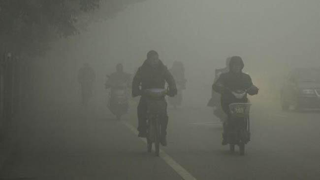 图为关于中国污染的照片