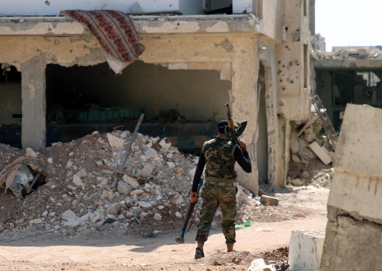 Un combattant de l'Armée syrienne libre à Deraa. (illustration)