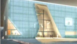Vue du nouveau musée juif de Varsovie qui sera inauguré le 19 avril 2013.
