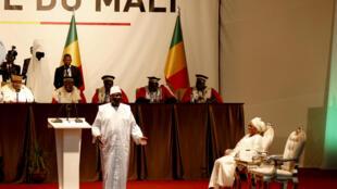 Le président malien Ibrahim Boubacar Keïta lors de la cérémonie d'investiture pour son deuxième mandat le 4 septembre 2018.