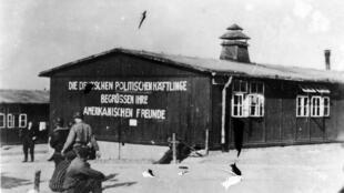 El campo de Buchenwald el día de su liberación, el 16 de abril de 1945.