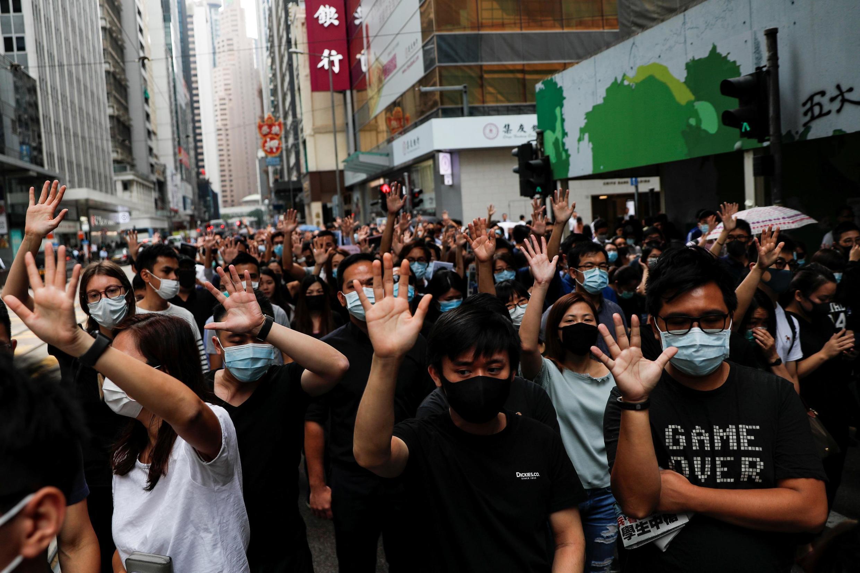 Hồng Kông: Biểu tình chống bạo lực cảnh sát. Ảnh ngày 18/10/2019.