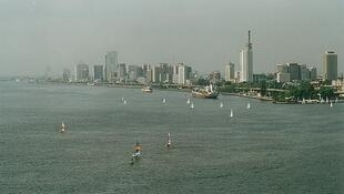 Lagos Island and part of Lagos Harbour, Nigeria