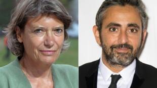 Véronique Cayla et Eric Toledano, les seuls candidats à la direction de l'Académie des César. (Photos prises en 2011 et en 2017).