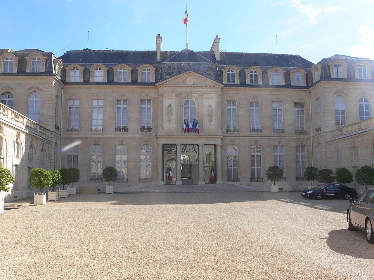 Palácio presidencial do Eliseu.