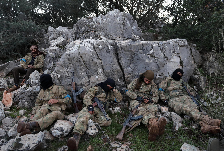 Các chiến binh FDS tại mặt trận Afrin ngày 19/02/2018.