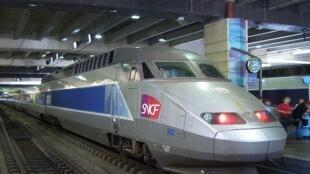 Trem de alta velocidade francês.
